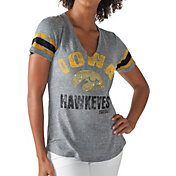 G-III For Her Women's Iowa Hawkeyes Grey Any Sunday T-Shirt