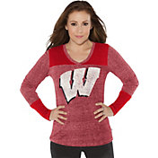Touch by Alyssa Milano Women's Wisconsin Badgers Red Goal Line Long Sleeve Shirt