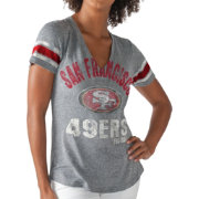 G-III for Her Women's San Francisco 49ers Any Sunday Grey T-Shirt
