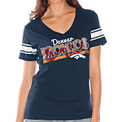 Touch by Alyssa Milano Women's Denver Broncos Foil V-Neck Navy T-Shirt