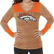 G-III for Her Women's Denver Broncos Goal Line Orange Long Sleeve Shirt