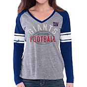 G-III for Her Women's New York Giants Tri-Blend Franchise Grey Long Sleeve Shirt