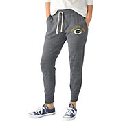 G-III for Her Women's Green Bay Packers Tri-Blend Playoff Grey Jogger Pants
