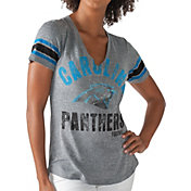 G-III for Her Women's Carolina Panthers Any Sunday Grey T-Shirt