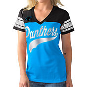 G-III for Her Women's Carolina Panthers Pass Rush Jersey Top