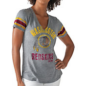G-III for Her Women's Washington Redskins Any Sunday Grey T-Shirt