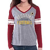 G-III for Her Women's Washington Redskins Tri-Blend Franchise Grey Long Sleeve Shirt