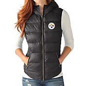 G-III for Her Women's Pittsburgh Steelers Free Agent Black Packable Vest