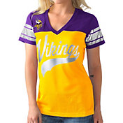 G-III for Her Women's Minnesota Vikings Pass Rush Jersey Top