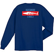 Guy Harvey Men's Wahoo Stencil Long Sleeve Shirt