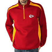 G-III Men's Kansas City Chiefs Hail Mary Half-Zip Red Pullover