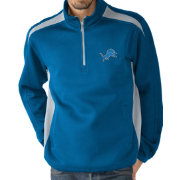 G-III Men's Detroit Lions Hail Mary Half-Zip Blue Pullover