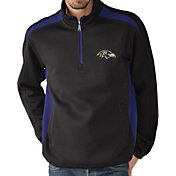 G-III Men's Baltimore Ravens Hail Mary Half-Zip Black Pullover