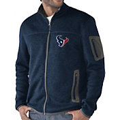 G-III Men's Houston Texans Campfire Full-Zip Navy Jacket
