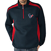 G-III Men's Houston Texans Hail Mary Half-Zip Navy Pullover