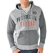 G-III Men's Philadelphia Flyers Grey Safety Full Zip Hoodie