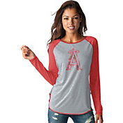 Touch by Alyssa Milano Women's Los Angeles Angels Grey/RedLong Sleeve Shirt