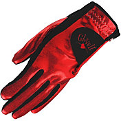 Glove It Women's Clear Dot Golf Glove – Red/Black