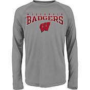 Gen2 Youth Wisconsin Badgers Grey Fadeout Long Sleeve Shirt
