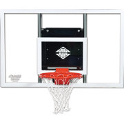 "Goalsetter 72"" Baseline Glass Backboard and HD Breakaway Rim"