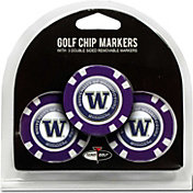 Team Golf Washington Huskies Poker Chips Ball Markers - 3-Pack