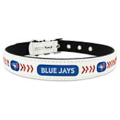 Toronto Blue Jays Classic Leather Baseball Dog Collar