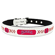 Los Angeles Angels Classic Leather Baseball Dog Collar