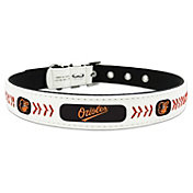 Baltimore Orioles Classic Leather Baseball Dog Collar