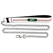 Oakland Athletics Baseball Leather 3.5mm Chain Leash