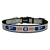 Detroit Tigers Reflective Baseball Dog Collar