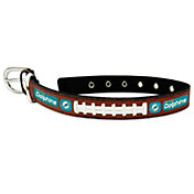 Miami Dolphins Classic Leather Football Dog Collar