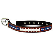 Seattle Seahawks Classic Leather Football Dog Collar