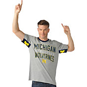 Hands High Men's Michigan Wolverines Grey Cut Back T-Shirt