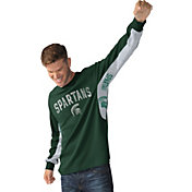 Hands High Men's Michigan State Spartans Green Gridiron Thermal Long Sleeve Shirt