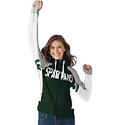 Hands High Women's Michigan State Spartans Green Down the Field Hoodie
