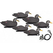 Hard Core Pre-Rigged Black Duck Floating Decoys – 6 Pack