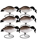 Hard Core Pro Series Full Body Canada Goose Feeder Decoys – 6 Pack