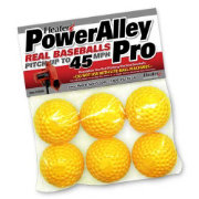 Heater PowerAlley Pro Dimpled Pitching Machine Baseballs - 6 Pack