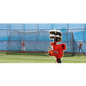 Heater Slider Lite-Ball Baseball Pitching Machine & PowerAlley 20' Batting Cage