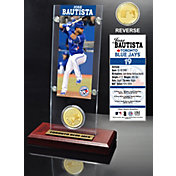 Highland Mint Jose Bautista Toronto Blue Jays Ticket and Bronze Coin Acrylic Desktop Display