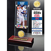 Highland Mint Anthony Rizzo Chicago Cubs Ticket and Bronze Coin Acrylic Desktop Display