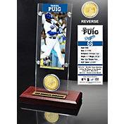 Highland Mint Yasiel Puig Los Angeles Dodgers Ticket and Bronze Coin Acrylic Desktop Display