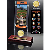 Highland Mint San Francisco Giants World Series Ticket and Bronze Coin Acrylic Desktop Display