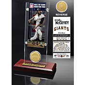 Highland Mint Willie McCovey San Francisco Giants Hall of Fame Ticket and Bronze Coin Acrylic Desktop Display