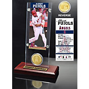 Highland Mint Albert Pujols Los Angeles Angels Ticket and Bronze Coin Acrylic Desktop Display