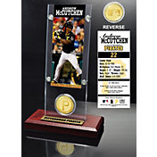 Highland Mint Andrew McCutchen Pittsburgh Pirates Ticket and Bronze Coin Acrylic Desktop Display