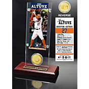 Highland Mint Jose Altuve Houston Astros Ticket and Bronze Coin Acrylic Desktop Display