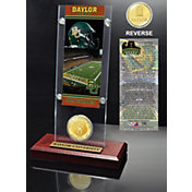 Highland Mint Baylor Bears Ticket and Bronze Coin Desktop Display