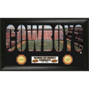 The Highland Mint Oklahoma State Cowboys Panoramic Photo with Coins