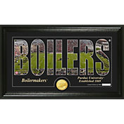 Highland Mint Purdue Boilermakers Framed 'Silhouette' Bronze Coin Photo Mint